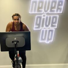 Never give up! You Fitness, Fitness Goals, Fitness Motivation, Peloton Bike, Never Give Up, Community, Workout, Healthy, Fit Motivation