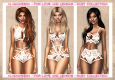 Sims 4 CC's - The Best: Lingerie by AlainaVesna