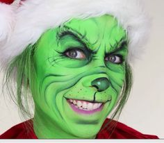 In this face painting tutorial I show you how to re-create The Grinch who stole Christmas! Please give the video a thumbs up if you enjoyed it! Grinch Halloween, Halloween 2018, Funny Christmas Costumes, Le Grinch, Grinch Christmas Party, Grinch Party, Christmas Makeup, Christmas Humor, Holiday Makeup