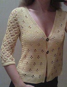 Ravelry: Gilet femme, model 14 pattern by Phildar Design Team - moda Pull Crochet, Gilet Crochet, Crochet Diy, Crochet Coat, Crochet Blouse, Crochet Clothes, Crochet Jacket Pattern, Ravelry, Cardigans For Women