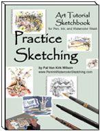 Pen, Ink, Watercolor Wash Sketching -eBook Guide, Practice Sketching Tips, Free PDFs, Copyright-Free Photos, Drawing Gallery - PenInkWatercolorSketching.com