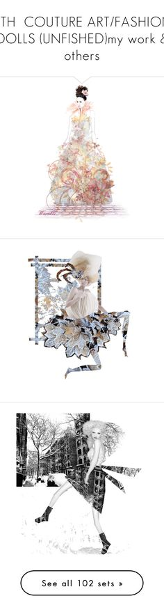 """8TH  COUTURE ART/FASHION DOLLS (UNFISHED)my work & others"" by dawn-lindenberg ❤ liked on Polyvore featuring art, Karl Lagerfeld, Belk & Co., Alexis, Giambattista Valli, Sans Souci, River Island, RED Valentino, Kate Spade and Niels Peeraer"