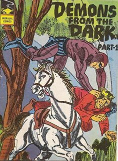 Vintage Comic Books, Vintage Comics, Indrajal Comics, Comic Book Characters, Comic Covers, Scorpion, Demons, The Darkest, Literature
