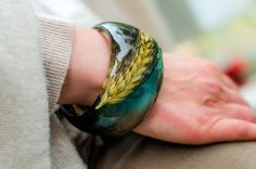 Lovely soft colors and real piece of nature in your hands...Adorable jewelry by PAGANE uniques