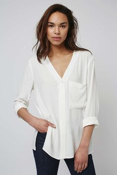 Long Sleeve Slouchy Pocket - Topshop