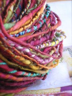 parfait  handspun gypsy handpainted art yarn by pancakeandlulu, $38.00