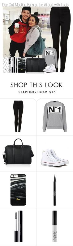 """DONE WITH THIS SCHOOL YEAR! ~ Day Out in Meeting Fans at the Airport with Harry"" by elise-22 ❤ liked on Polyvore featuring Topshop, Être Cécile, Burberry, Converse, Stila, shu uemura, NARS Cosmetics and ASOS"