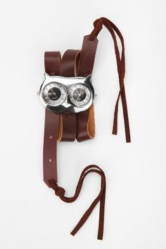UrbanOutfitters.com > Owl Leather & Suede Wrap Watch $34