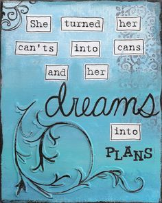 Dreams into Plans - 8x10 - Mixed Media - Art Print  -  TheArtsyGirlStudio - in United States