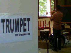 il maestro Brandon Lee prova la propria tromba