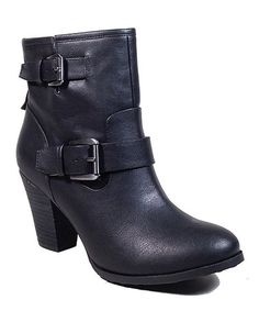 Another great find on #zulily! Black Social Ankle Boot #zulilyfinds