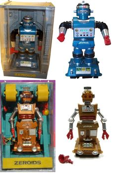 These Zeroid robots kept me entertained for years and were admired by many. Little did I know but there was quite a collection I missed out on. Damn the lack of internet back in the early Vintage Toys 1960s, 1960s Toys, Vintage Robots, Retro Robot, Retro Toys, Retro Games, Childhood Toys, Childhood Memories, Brother Quotes