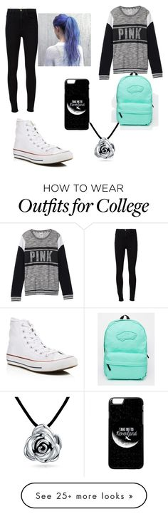 """Another day at school"" by katerinatugulea on Polyvore featuring Frame Denim, Victoria's Secret, Converse, Vans and Bling Jewelry"