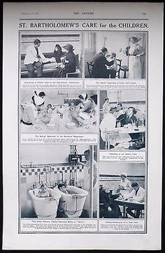 ST BARTHOLOMEW'S HOSPITAL LONDON BARTS PEDIATRICS CHILDREN PHOTO ARTICLE 1920
