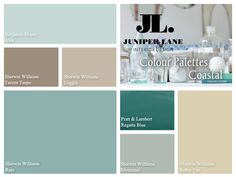 """Do you dream of Nantucket, beach glass  Diane Keaton's home in """"Somethings Got to Give""""? This fresh coastal paint palette is just for you!"""