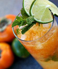 Persimmon Mojitos #NationalRumMonth #Rum #Recipe