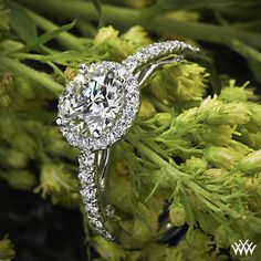 Verragio Bead-Set Halo Diamond Engagement Ring with a 1.06ct A CUT ABOVE Diamond