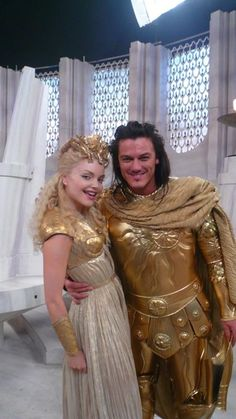 Izabella Miko as Athena and Luke Evans as Apollo from the Clash Of The Titans Remake...   Man I wish their scenes weren't cut. The movie might have at least made sense then.