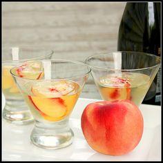 white peach and prosecco gelatina