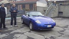 First viewing - this is the previous owner. He'd had it 5 years and hardly ever used it. It was always kept locked in the garage. It was in very good condition for an 11 year old car. Fiat Barchetta sell for between €3,000 to €7,000 and prices are going up as they get more rare.