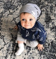 The cutest little boy in our beanie for fall! Toddler Boy Fashion, Toddler Outfits, Baby Boy Outfits, Kids Outfits, Kids Fashion, Diaper Bag, Handmade Baby Items, Cute Little Boys, Monochrome Fashion