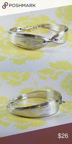 Beautiful floral design silver plated spoon bracel Beautiful floral design silver plated spoon bracelet Spoon Me Baby Designs  Jewelry Bracelets