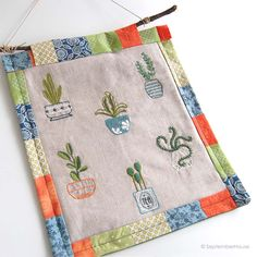 Hand Embroidery Patterns Happy Houseplants from SeptemberHouse