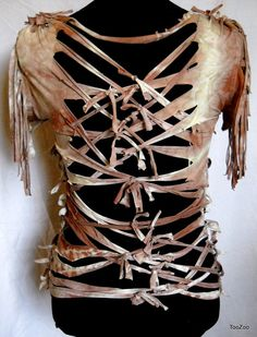 Post-Apocalyptic Female Survivor | Womens Sz16W Curvacous Post Apocalyptic female Survivor Warrior RiPpEd ...