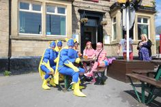 A few of the regulars at the Three Horse Shoes, Otley Road, Far Headingley, Leeds.