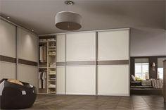 sliderobes fitted wardrobe mussel & grey brown walnut wood bedroom interior