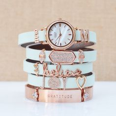 KEEP Collective Rose gold/mint