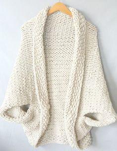 Easy Knit Blanket Sweater - Free Pattern