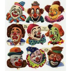 Adorable vintage clown pictures.
