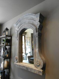 Aged mirror, restoration hardware