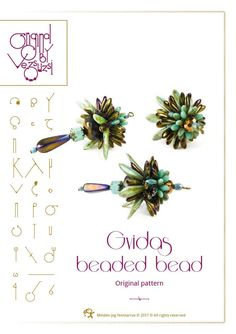 Beading tutorial / pattern Gvidas beaded bead Beading instruction in PDF – for personal use only by beadsbyvezsuzsi on Etsy