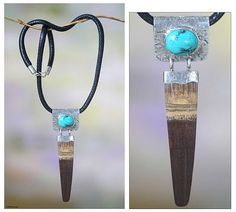 Bamboo and Turquoise Silver Necklace - Bamboo Island | NOVICA