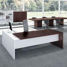 Dimensions – right hand desk - Office Furniture Modern Office Table, Office Table Design, Office Furniture Design, Office Interior Design, Office Interiors, Desk Office, Blue Office, Bureau Design, Modern Executive Desk