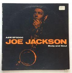 FREE SHIPPING RECORDS: JOE JACKSON BODY AND SOUL VINYL 1984 A&M LP SP 5000