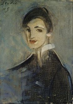 Helene Schjerfbeck (Finish 1862–1946) [Realism, Impressionism, Expressionism, Romanticism] Singer in Black, 1916.