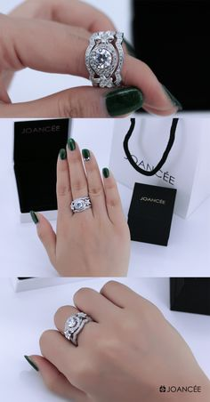 Joancee Bridal Ring Sets 810322 for Wedding, Engagement & Anniversary Gifts