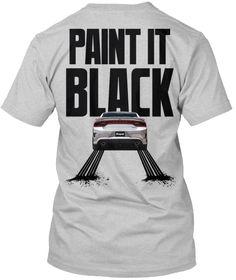 Srt Paint It Black Light Steel T-Shirt Back
