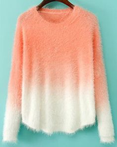 Shop Orange Ombre Long Sleeve Mohair Sweater online. Sheinside offers Orange Ombre Long Sleeve Mohair Sweater & more to fit your fashionable needs. Free Shipping Worldwide!