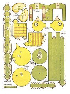 Automata toys - toys Automata - Bastelbögen Mechanischen - Combine Toys automatons - Karakuri: Toy Mechanic
