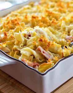 "<p><strong>Chicken Cordon Bleu Noodle Casserole</strong></p> <p>Get the recipe <a href=""https://www.melissassouthernstylekitchen.com/chicken-cordon-bleu-noodle-casserole/""><em><strong>here</strong></em></a></p>"