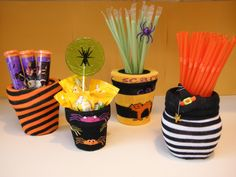 {DIY} Halloween Treats Sock Container