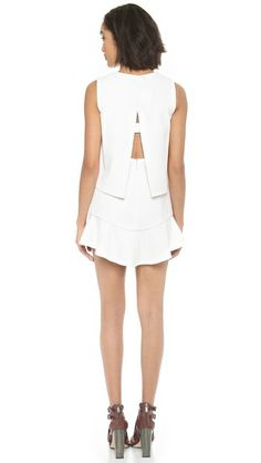 SPRING/SUMMER STYLE: BCBGMAXAZRIA Vivian Dress #white #minidress