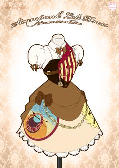 Steampunk Loli Dress by Neko-Vi on DeviantArt Manga Clothes, Drawing Clothes, Steampunk Dress, Steampunk Fashion, Mery Chrismas, Art Puns, Anime Dress, Clothes Pictures, Cosplay