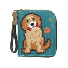 Coin Pouch Colorful Dog Rainbow Canvas Coin Purse Cellphone Card Bag With Handle And Zipper