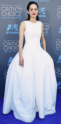 2015 Critics' Choice Movie Awards: Red Carpet Arrivals - Marion Cotillard in Dior with #Chopard jewelry  #InStyle