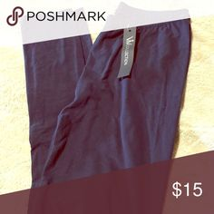 Navy blue Viv leggings nwt Great basic navy blue leggings super soft similar to Lularoe size is OS which fits up to a 12 Pants Leggings